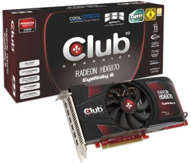 Видеокарта Club-3D Radeon HD6870 1GB CGAX-68748M6