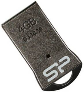 Флеш-память USB Silicon Power T01 4GB Black USB 2.0 SP004GBUF2T01V1K