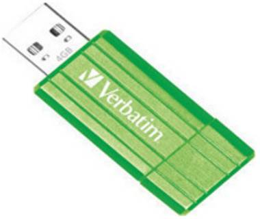 Флеш-память USB Verbatim PIN STRIPE GREEN 47391