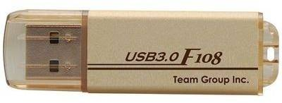 Флеш-память USB Team F108 Gold TG008GF108N3
