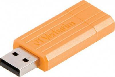 Флеш-память USB Verbatim 8 Gb STORENGO PIN STRIPE ORANGE 47389