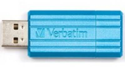 Флеш-память USB Verbatim STORENGO PIN STRIPE BLUE 47398