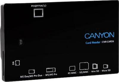 Картридер Canyon CNR-CARD6 USB 2.0 Black G6CNRCARD6