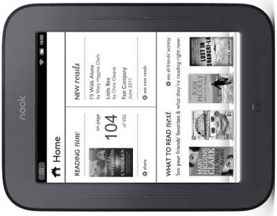 Электронная книга Barnes & Noble Nook Wi-Fi The Simple Touch Reader