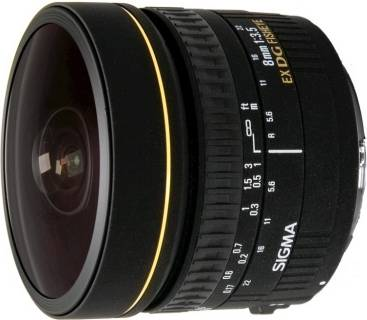 Объектив Sigma 8 mm f3,5 EX DG Circular Fisheye  for Nikon