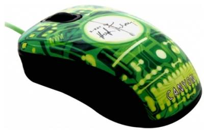 Мышка Canyon CNL-MSO07 X-Ray USB Black/Green CNL-MSO07X