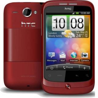 Смартфон HTC Wildfire  red A3333