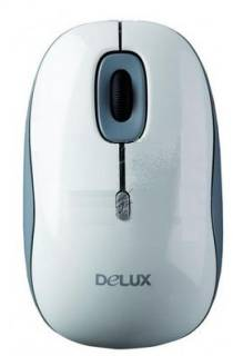 Мышка Delux DLM-108BU USB White-Grey