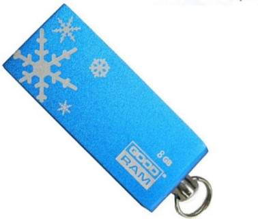 Флеш-память USB Goodram Cube Christmas 8GB  Blue PD8GH2GRCUBR9+XM