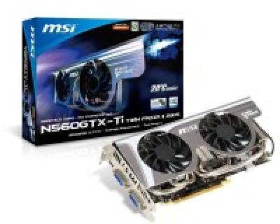 Видеокарта MSI GeForce GTX560Ti 2048Mb N560GTX-tiTFrozr2GD5/OC