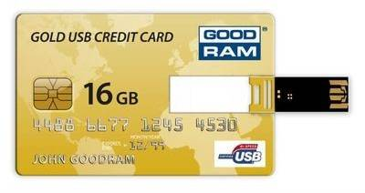 Флеш-память USB Goodram CREDIT CARD 16 GB Gold PD16GH2GRCCPR9