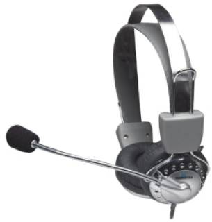Наушники Manhattan Headset Stereo Silver 175517