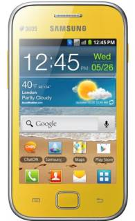 Смартфон Samsung S6802 Galaxy Ace Duos Yellow GT-S6802ZYA