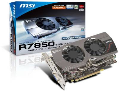 Видеокарта MSI Radeon HD 7850 2048 Mb R7850-TwinFrozr 2GD5/OC