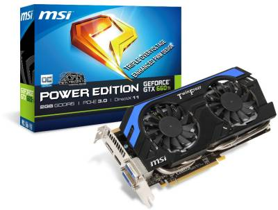 Видеокарта MSI GeForce GTX 660 Ti 2048MB N660Ti PE 2GD5/OC
