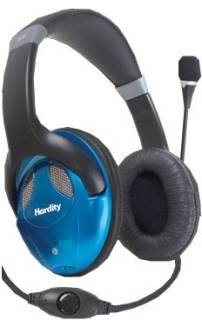 Наушники Hardity HP-440MV black-blue