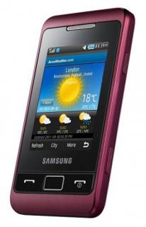 Смартфон Samsung Champ 2 wine red C3330