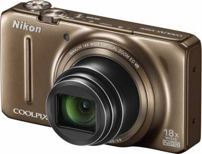 Фотоаппарат Nikon Coolpix S9200 brown VNA142E1