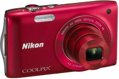 Фотоаппарат Nikon Coolpix S3300 Red VMA952KR01