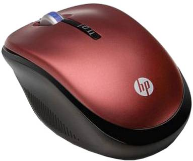 Мышка HP 2.4GHz Wireless Optical (Red) Mobile Mouse XB386AA#ABB