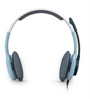 Наушники Logitech H250 Stereo Headset Ice Blue 981-000377