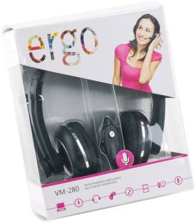 Наушники Ergo VM-280 Black SM-HD280M.V