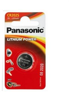 Батарейка Panasonic CR 2025 BLI 1 LITHIUM CR-2025EL/1B