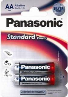 Батарейка Panasonic STANDARD POWER AA BLI 2 ALKALINE LR6RES/2BP