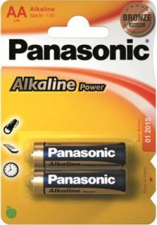Батарейка Panasonic ALKALINE POWER AA BLI 2 LR6REB/2BP