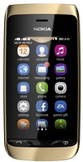 Смартфон Nokia Asha 308 Golden light A00008668