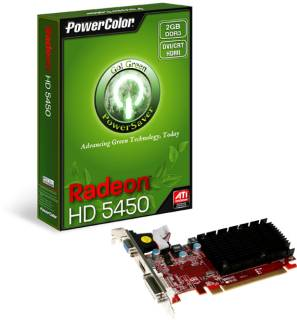 Видеокарта PowerColor Radeon HD 5450 2048MB AX5450 2GBK3-SHV2