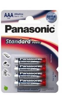 Батарейка Panasonic LR03 Standard Power 1x4 шт. LR03RES/4BP