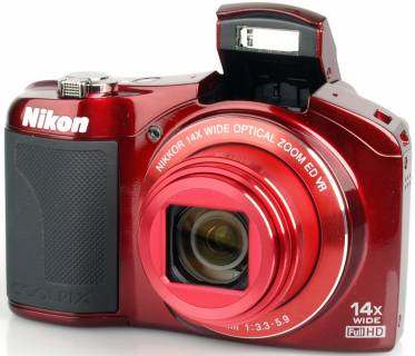 Фотоаппарат Nikon COOLPIX L610 Red VNA222E1
