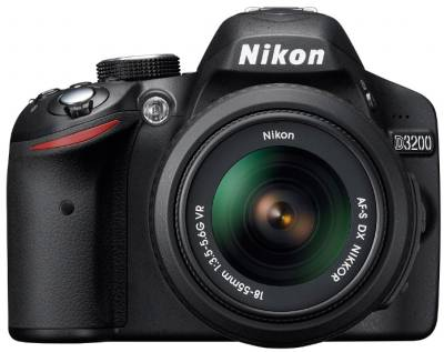 Фотоаппарат Nikon D3200 kit 18-55 VR +SLR Shoulder Bag VBA330KR02