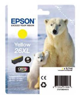 Картридж Epson 26XL XP600/ 605/ 700 yellow C13T26344010