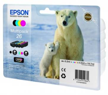 Картридж Epson 26 XP600/ 605/ 700 Bundle (C, M, Y, Bk) C13T26164010