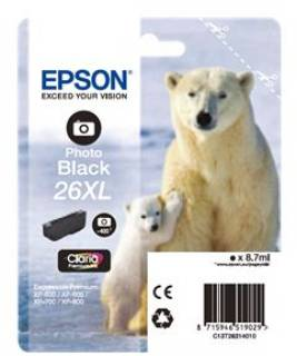 Картридж Epson 26XL XP600/ 605/ 700 black C13T26314010
