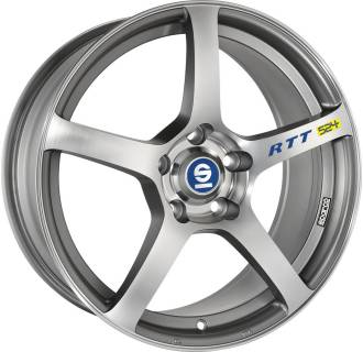 Колесные диски SPARCO RTT 524, 8, 17, 5x114,30, MATT SILVER TECH DIAMOND CUT W2904350568
