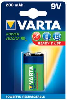 Аккумулятор Varta 9V-Block 200mAh Power R2U HR6F22 56722101401