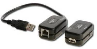 Аксессуар Digitus USB 2.0 Digitus extender over UTP 60m, black DA-70139-1