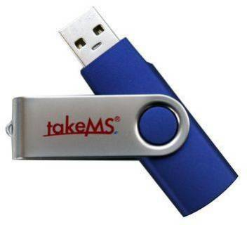 Флеш-память USB TakeMS 16GB Mini Rubber Blue 88385