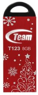 Флеш-память USB Team Xmas T123 8Gb RED TT1238GR10