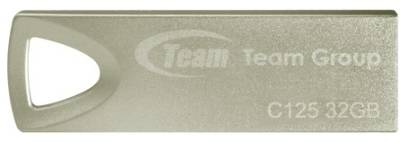 Флеш-память USB Team C125, Silver, USB2.0 TC12532GS01
