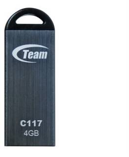 Флеш-память USB Team C117 4GB Grey TC1174GC01