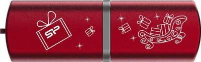 Флеш-память USB Silicon Power LUX mini 720 16GB red Christmas