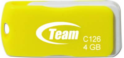 Флеш-память USB Team USB 4Gb Team C126 Yellow TC1264GY01