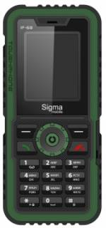 Смартфон Sigma X-TREME IP68 Black-Green