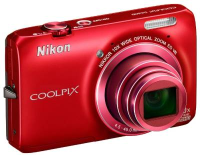 Фотоаппарат Nikon Coolpix S6300 red