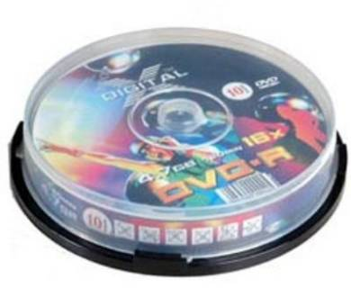 Диск X-Digital DVD+R 4.7GB/8x CakeBox 10 - KIT