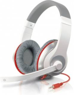 Наушники SPEEDLINK AUX White-red Stereo Headset SL-8755-WTRD
